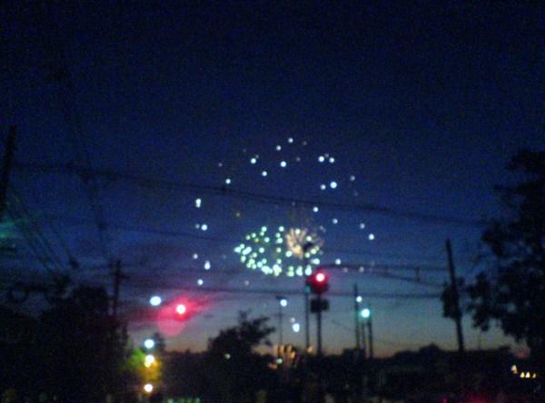 Juegos de luces en Kearny, New Jersey