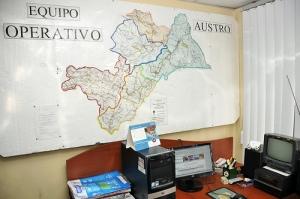 Supuesta oficina de seguridad, ahora desvirtuada. Foto de la  Presidencia de la República del Ecuador
