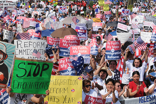 Marcha de Inmigración en Washington, DC. Foto de SEIU International en Flickr.