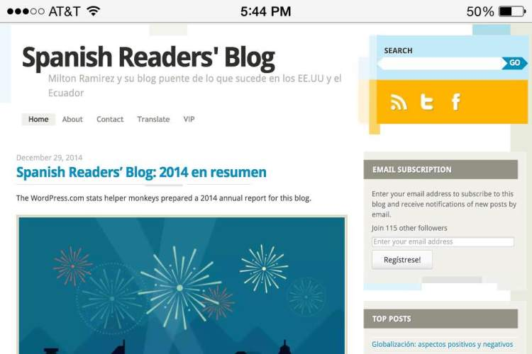 Spanish Readers' Blog: 2014 en Resumen